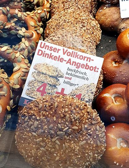 Bäckerei Keim – Das Vollkorn-Dinkele Angebot (4 + 1 Gratis)